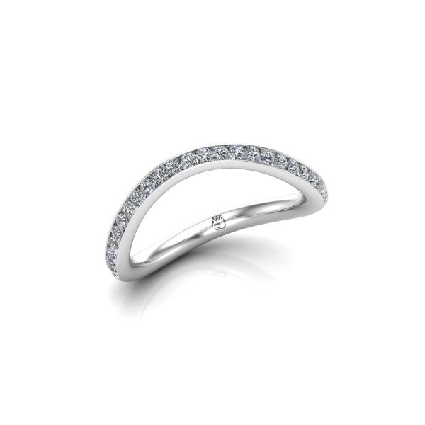 Memoire-Ring/Vorsteckring Curved | Brillanten | 0,33 ct | tw/vs