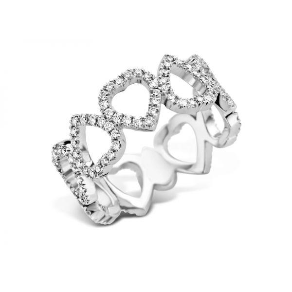 Ring | Gold 750 | Brillanten ca. 0,80 ct | tw,vs