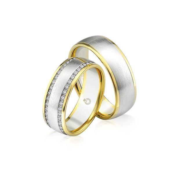 Trauringe   Brillanten   0,84 ct Gelbgold 375/- Weißgold 375/-