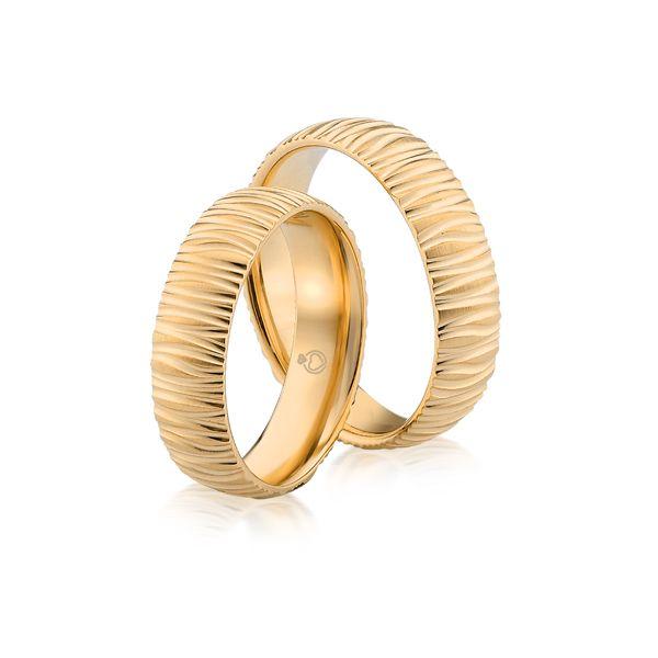 Paar Trauringe/Eheringe einfarbig in Gold oder Platin ohne Steine von Trauringspezialisten.de Modell TS9241